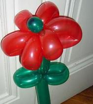 Un exemple de sculpture sur ballon : la fleur