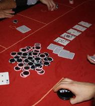 Animation faux casino sur table : Pile de jeton (sur l'ile de france principalement)