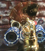 Animation faux casino : Trophée pouvant être remporté à la fin de la soirée