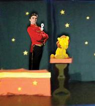spectacle magique avec des sculptures sur ballon, pour les enfants