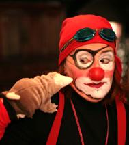 Clown d'improvisation, animation commandée par un comité d'entreprise de la région parisienne