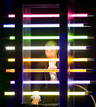 numéro de magie visuelle avec des lasers, sur paris et la région parisienne