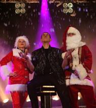 Le Père Noël et le magicien, à la fin du spectacle