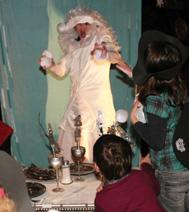 Bataille de boules de neige, pendant le spectacle: Legende du sapin du Noel