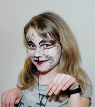 Maquillage sur visage pour enfant : modèle du chat