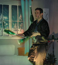 Numéro de jonglage circassien