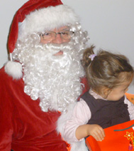 Comédien Père Noël et son elfe lors d'une après-midi organisée par une entreprise parisienne