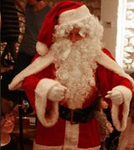 Comédien Père Noël pour un arbre de Noël sur l'ile de france